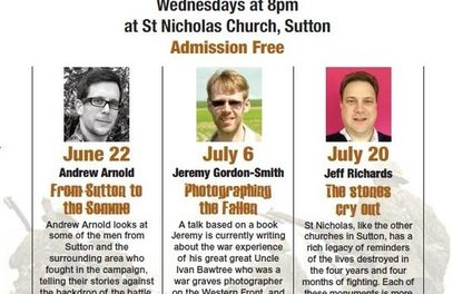 Free talks on Sutton and the First World War at St Nicholas