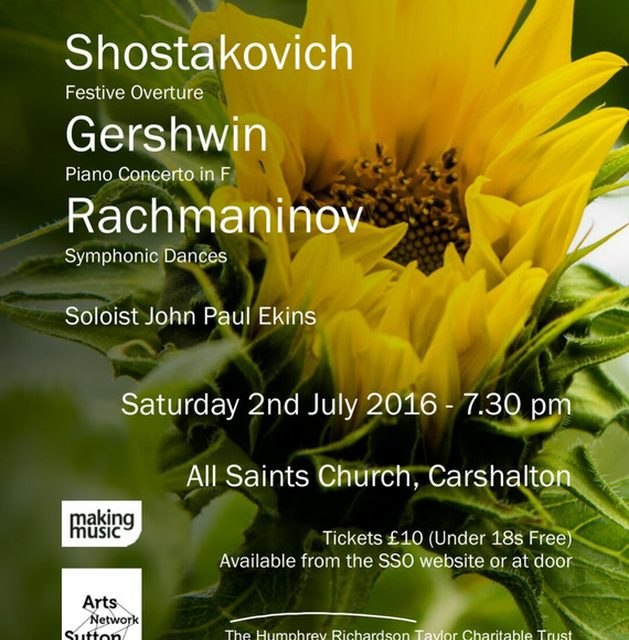 Sutton Symphony Orchestra announces next concert programme