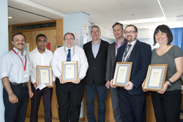 Info development team receive award for excellence from hospital