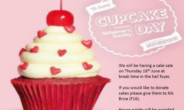 Cupcake sale organised by Carshalton High School for Girls