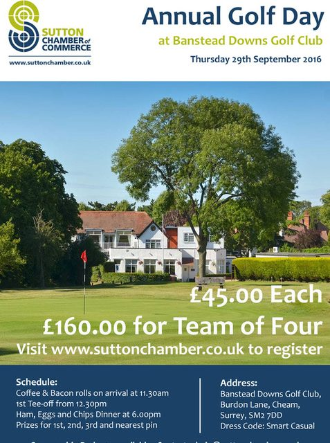 Sutton Chamber annual golf day is at Banstead Downs club