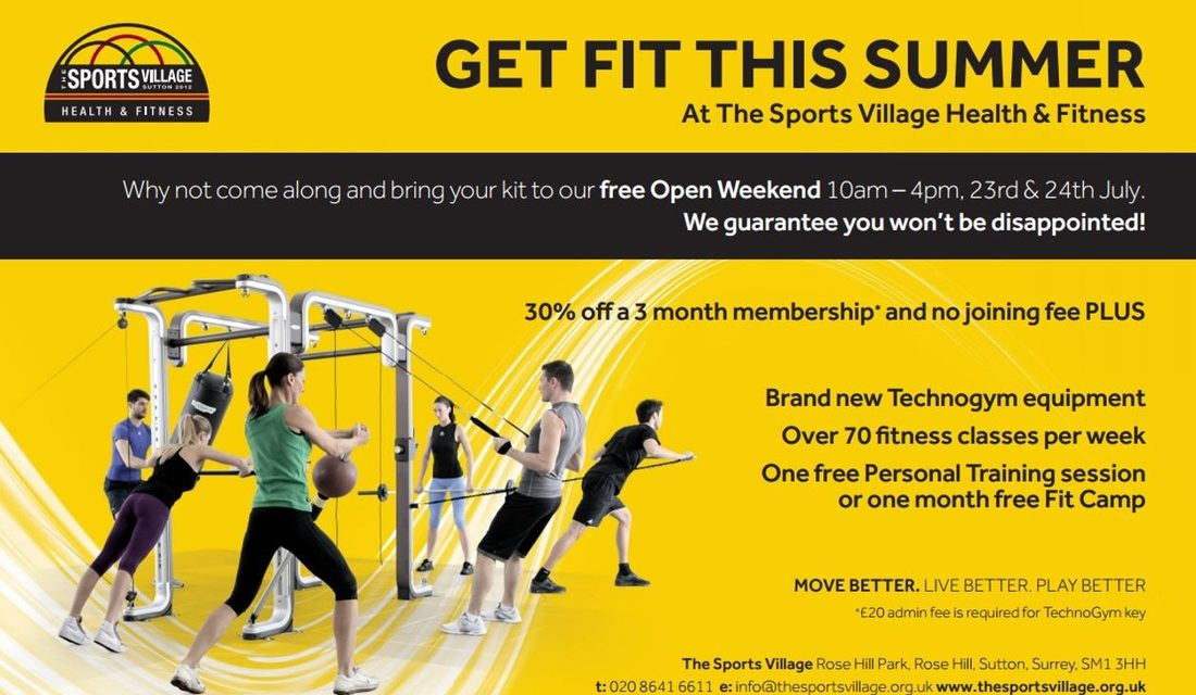 Get fit this summer with the help of The Sports Village