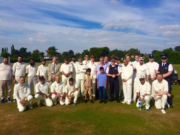 Unique cricket match takes place after rained off event last year