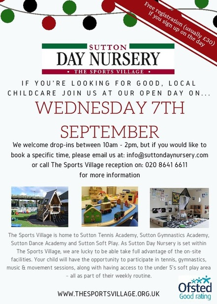 Sutton Day Nursery open day planned for September