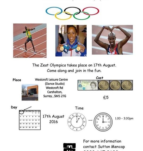 Sutton Mencap Zest Olympics taking place Westcroft