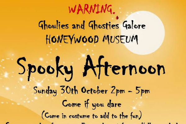Spooky goings on at Honeywood this Sunday