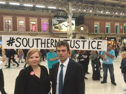 MP joins commuter campaigners at Victoria station protest