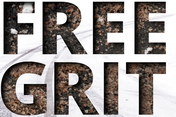 Free grit for residents available on November 26 – 27