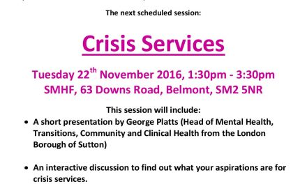 Signpost Sutton forum will deal with crisis services