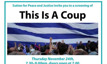 "Sutton group screen documentary film  ""This is a coup"""