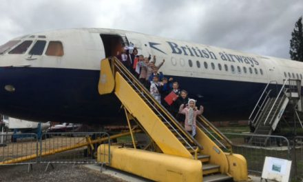 Cuddington students reached for the skies at Brooklands