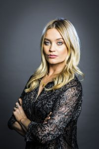 Laura Whitmore (Not Dead Enough, by Peter James). Photo by Helen Maybanks