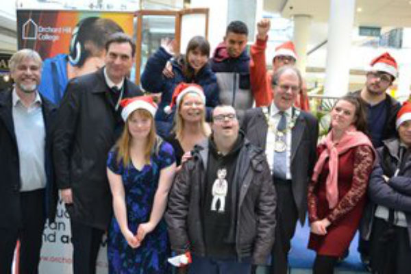 Orchard Hill College students final Christmas in the Community event