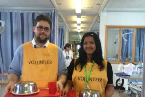 Mealtime Buddy volunteers at Epsom and St Helier