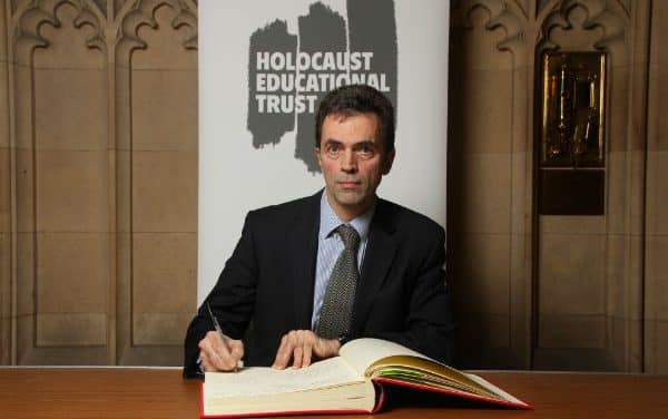 MP Tom signs Holocaust Book of Commitment