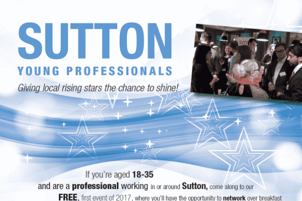 Book your ticket now and join Sutton's young professional network