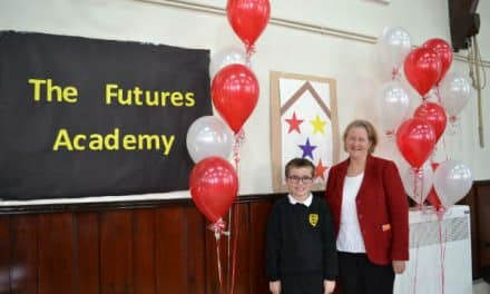 New Sutton Free school is revealed at afternoon assembly