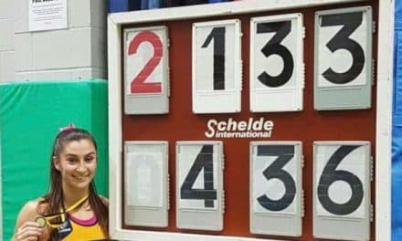 Jade Ive vaults to No 1 in the UK at the Surrey County Indoor Championships