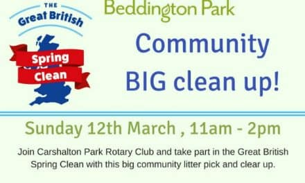 Rotary Club in Beddington as part of Great British Spring Clean