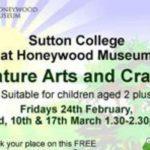 Fantastic free nature arts and cratfs event at Honeywood