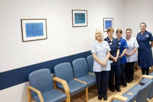 Nursing team in the new outpatients area at St Helier Hospital