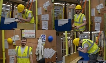 Hard work allows college student Tom to achieve carpentry diploma