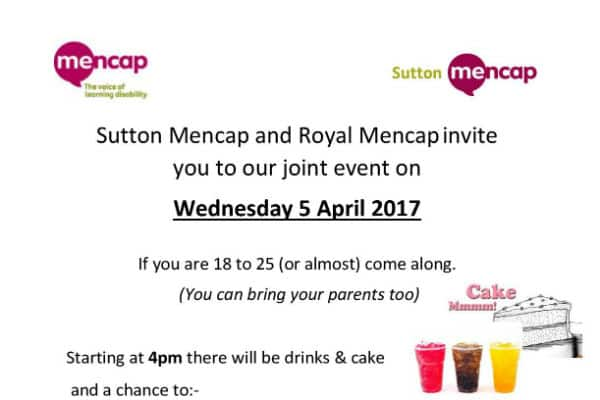 Sutton Mencap sets up new event for those aged between 18 and 25