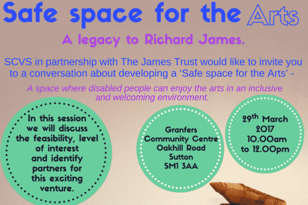 "Invitation to organisations to discuss ""Safe space for the arts"""