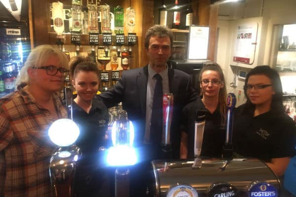 MP on hand for re-opening of Hackbridge pub