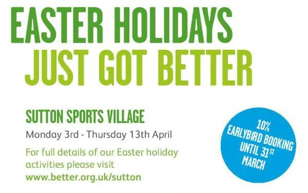 Sutton Sports Village offering help this Easter