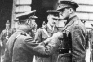 A.O. Pollard receives his Victoria Cross