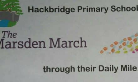 "Fantastic pupils and staff at Hackbridge school ""march"" for Royal Marsden centre"