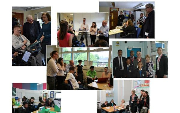 Department for Education staff visit Orchard Hill College