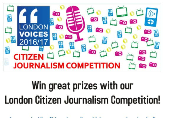 Great prizes available for London's citizen journalists