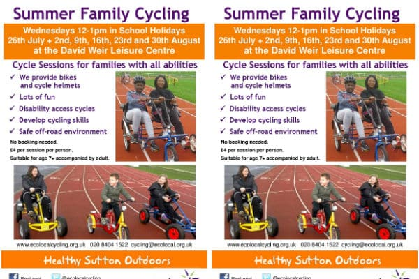 Fantastic family cycling sessions organised over the summer holidays