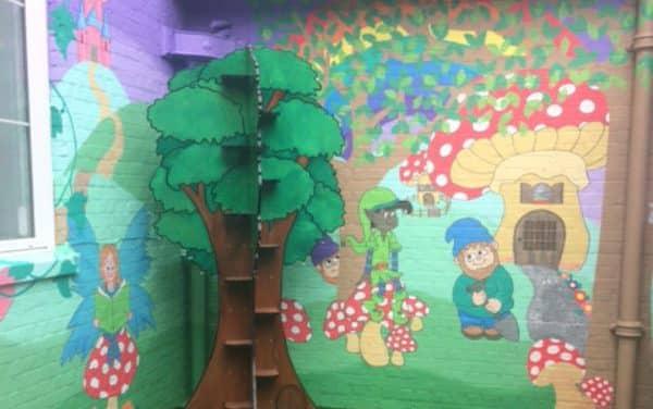 Amazing Fantasy reading garden in Hackbridge Primary School