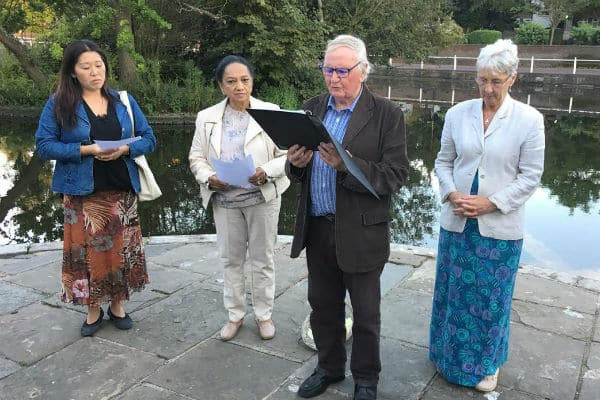Anniversary of Hiroshima atomic bomb marked at Carshalton Ponds