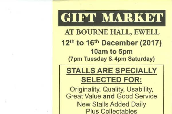 Gift market to take place in Ewell
