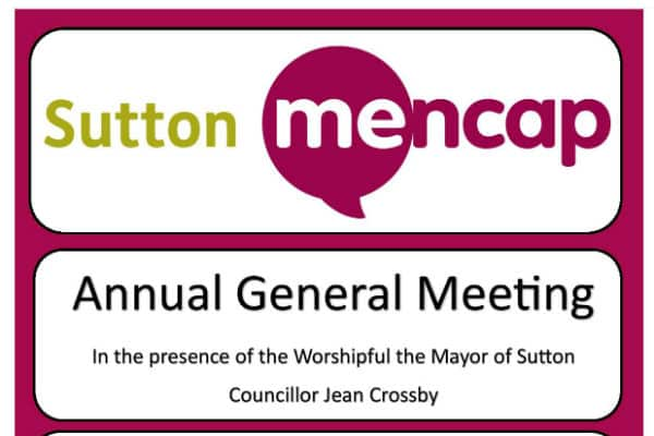 Sutton Mencap announces date of annual meeting