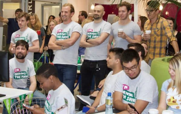 RBI staff braved the shave and raised money for MacMillan Cancer Support