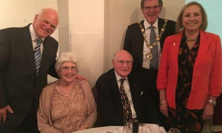 Mary receives British Empire Medal from Lord Lieutenant of Surrey