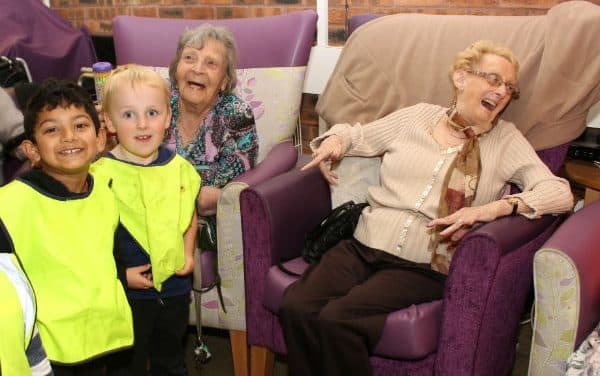 Youngsters visit Triangle Day Care Wallington