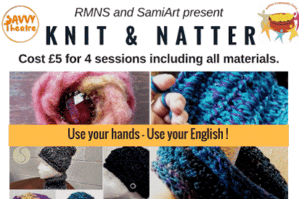 Knit, natter and help to practice your English