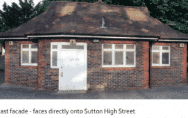 Disused toilets being turned into a cafe on Sutton Green
