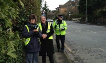 Speedwatch exercise checking a 20mph speed limit