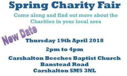 Special spring charity fair at Carshalton Beeches Baptist Church